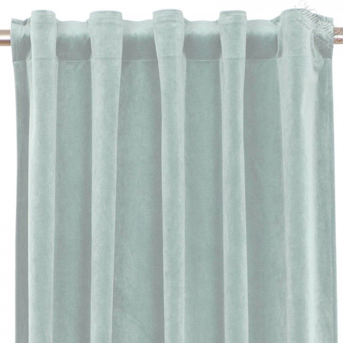 Gardin velvet multibånd - Lys grå/blå - Gardiner - Tepper og pledd - Produkter