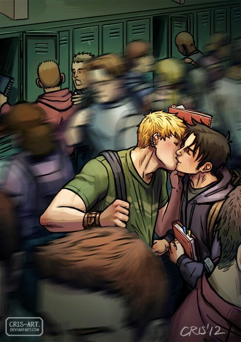 Billy and Teddy in the hallway by Cris__art