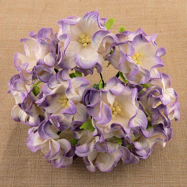 2-TONE LILAC GARDENIA FLOWERS