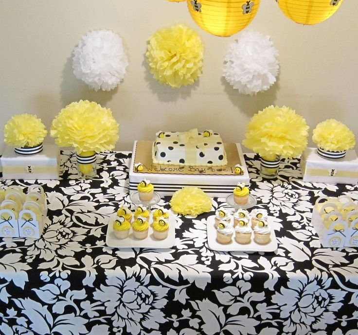 bumble bee baby shower decorations simplyiced party. Black Bedroom Furniture Sets. Home Design Ideas