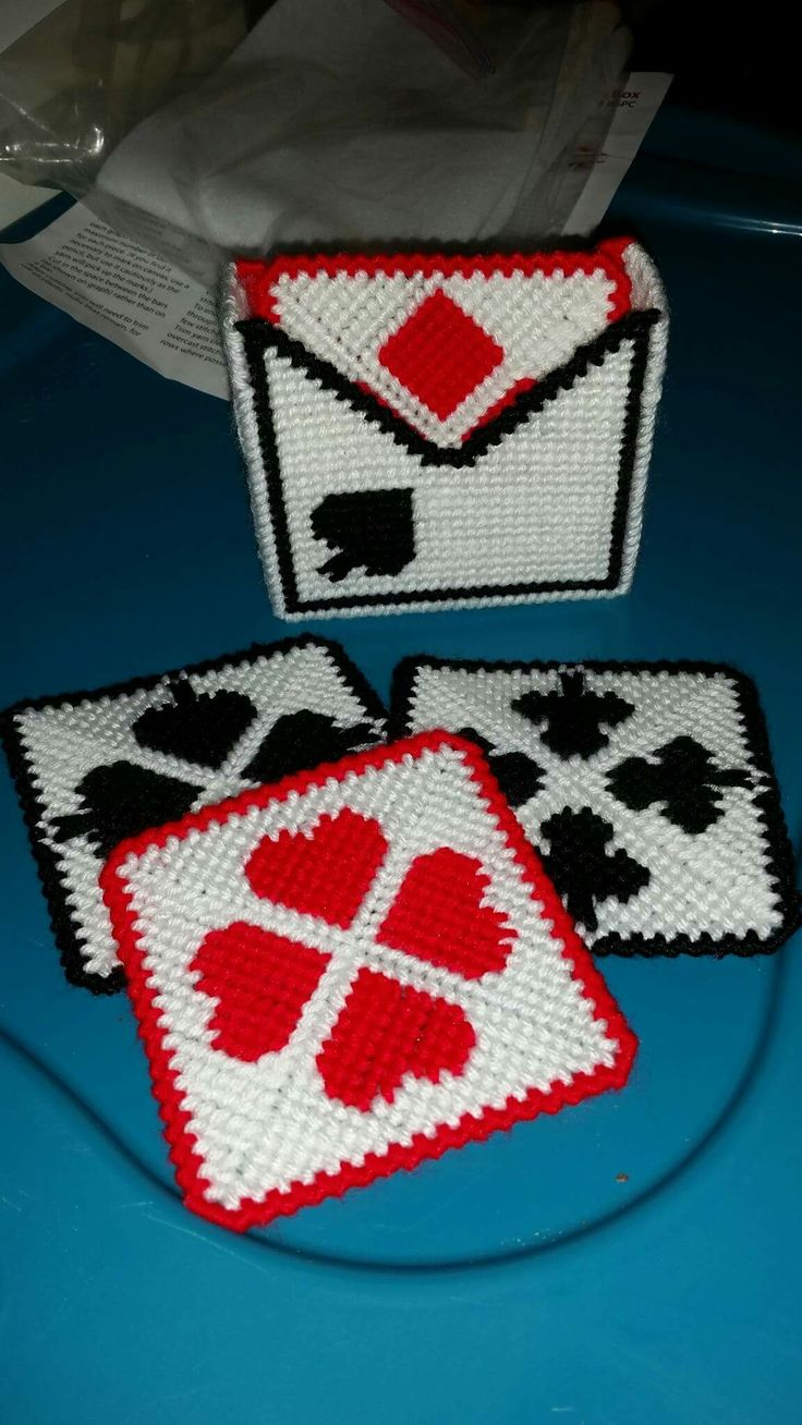 Playing cards coaster set