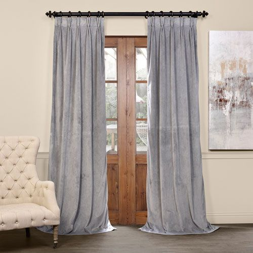 Our soft plush pile Velvet Curtains and Draped have a natural luster with a depth of color that creates a formal, polished look. Made of high-quality, poly velvet and soft flowing polyester blackout thermal lining. The curtains keep the light out and provides for optimal insulation. As a general rule, for proper fullness panels should measure 2-3 times the width of your window/opening.