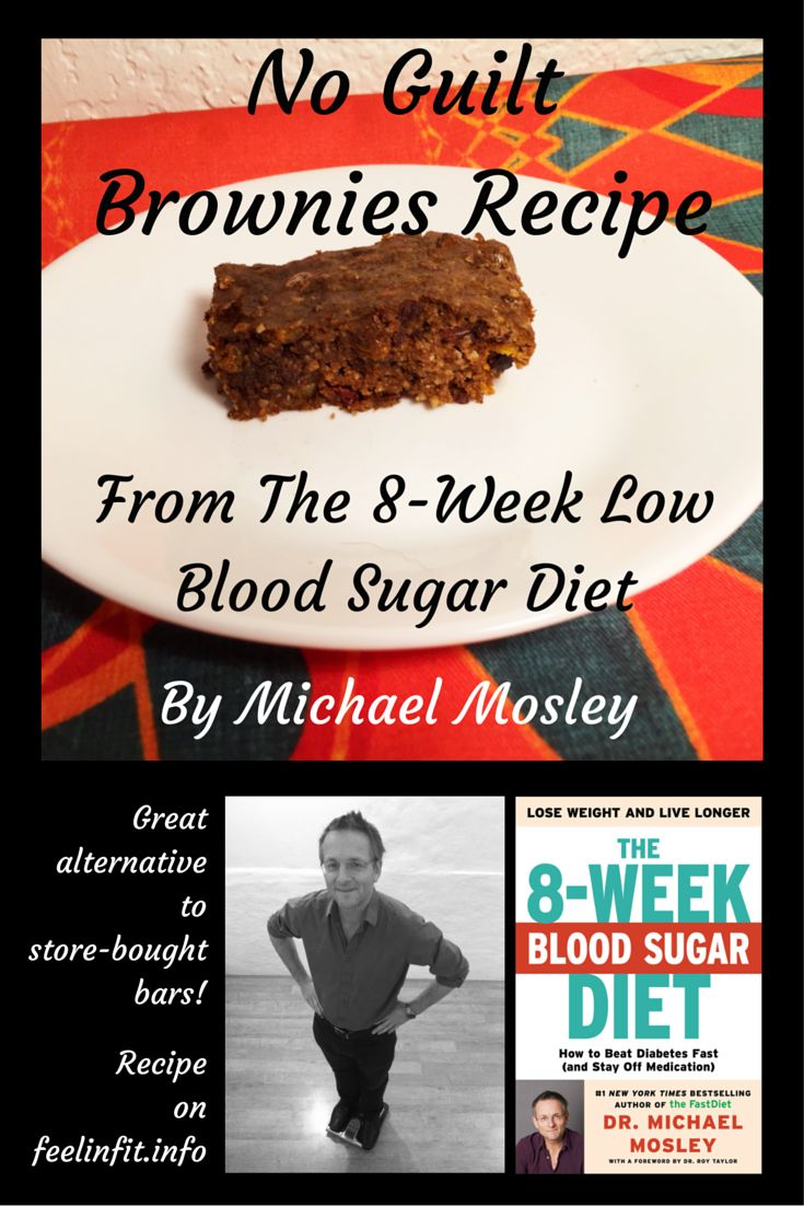 No Guilt Brownies Recipe by Dr. Micheal Mosley from his cookbook the 8-Week Blood Sugar Diet. This recipe is published on www.feelingfit.info with permission from the publisher.