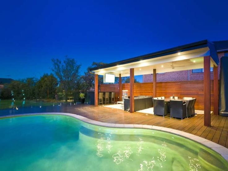 231 best outdoor rooms images on pinterest outdoor rooms for Pool area design photos