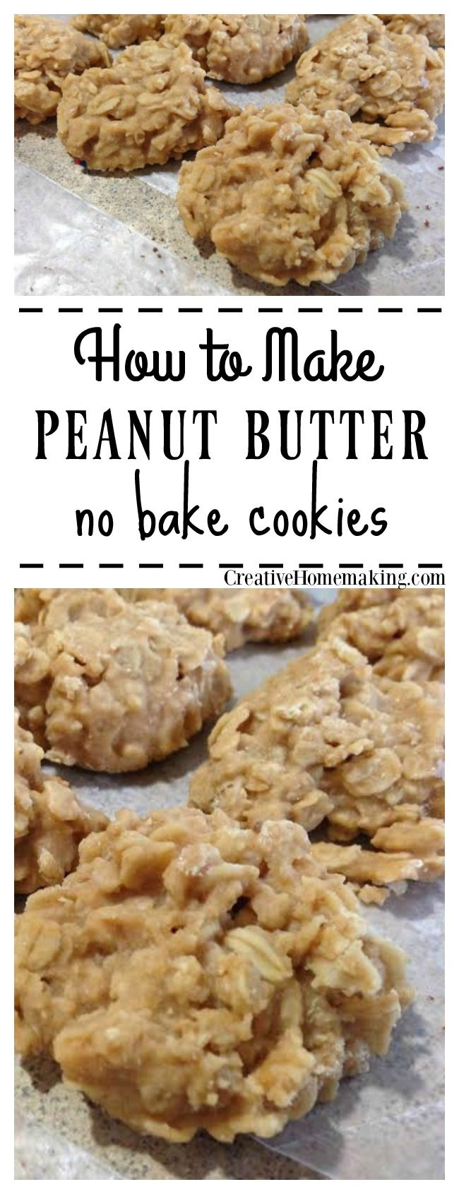 Do you love no-bake chocolate cookies? Try this peanut butter version, they are really good!