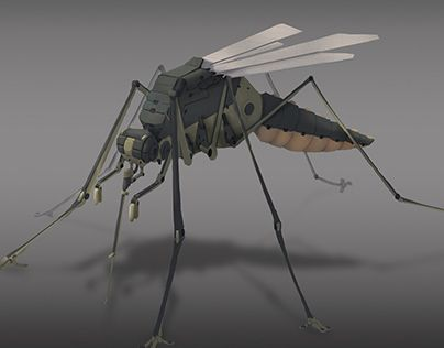 """Check out new work on my @Behance portfolio: """"Sci-fi mosquito"""" http://on.be.net/1M7R0mz"""
