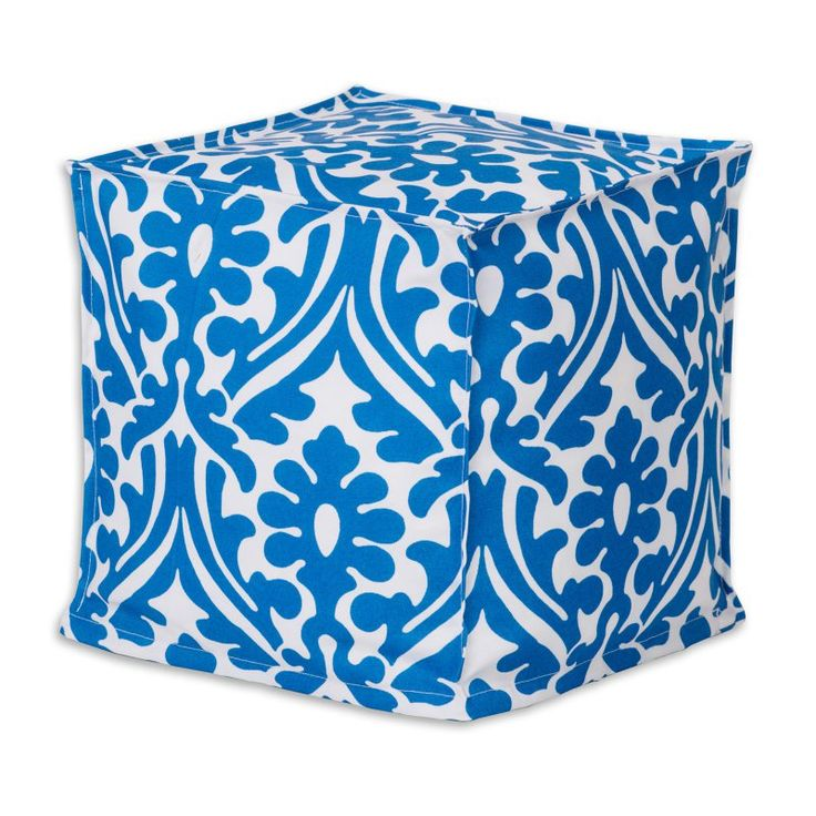 Brite Ideas Decorating Holly Cobalt Seamed Zippered Beads Footstool - BP13S8024