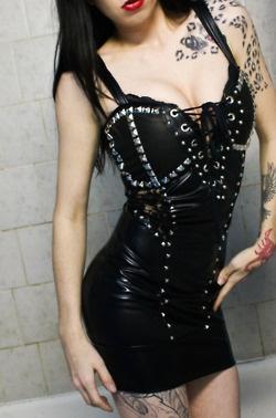 studded corset dress