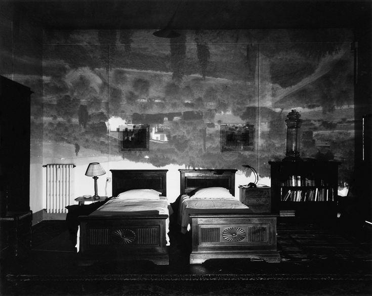Camera Obscura Image of Tuscan Landscape in Large Bedroom, 2000   Abelardo Morrell