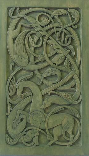 ~* Urnes style dragon panel by Phillip Odden * Norse *~