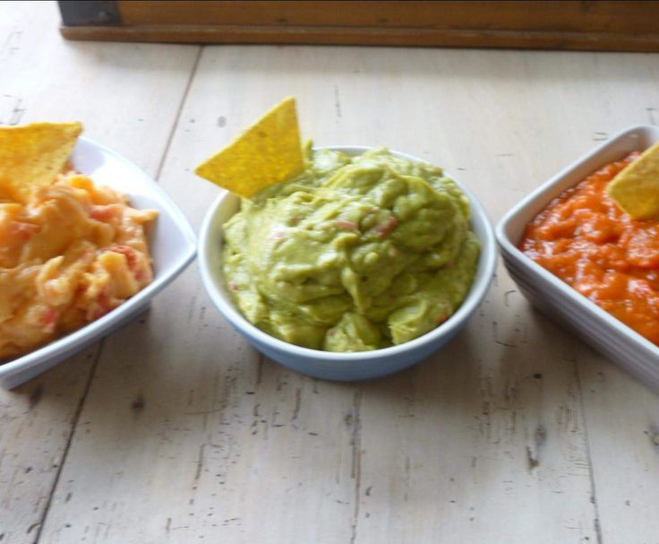 Recette 3 SAUCES POUR TORTILLAS CHIPS OU CRUDITES par elleisab - recette de la catégorie Sauces, dips et pâtes à tartiner