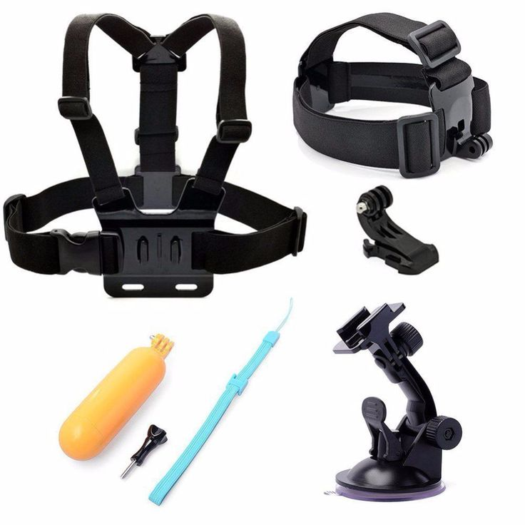 SJCAM Accessories Set Gopro Chest Head Strap Floaty Bobber Mount for Xiaomi Yi Gopro Hero 5 4 3 Black Hero4 Session SJ4000 WIFI
