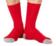 Men's bright red socks by Braintree. Made from bamboo!