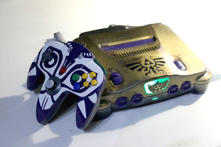 Custom Legend of Zelda Majora's Mask Nintendo 64 and N64 controller