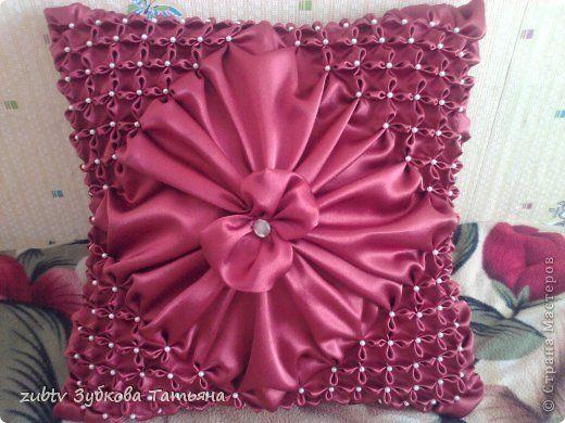 Интерьер, Мастер-класс Шитьё: Подушка в технике буфы Ткань Отдых. Фото 1