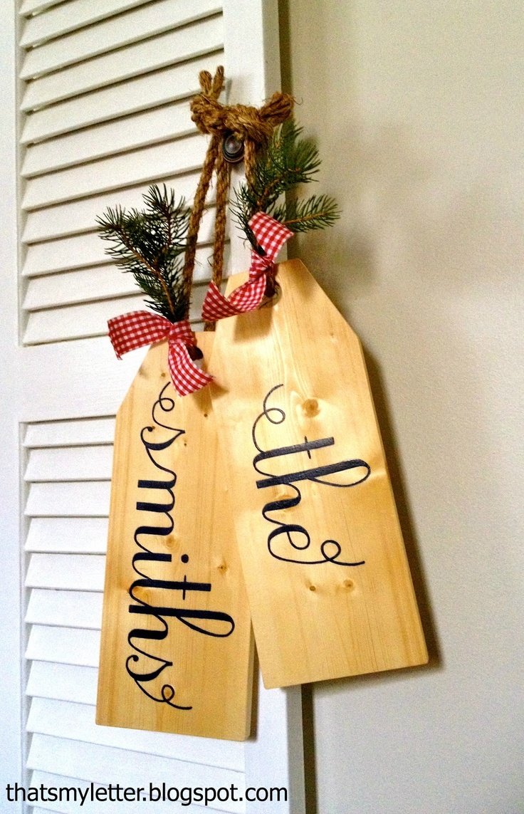 "That's My Letter: ""W"" is for Wood Tags #3 (last name version), giant wood tags personalized"