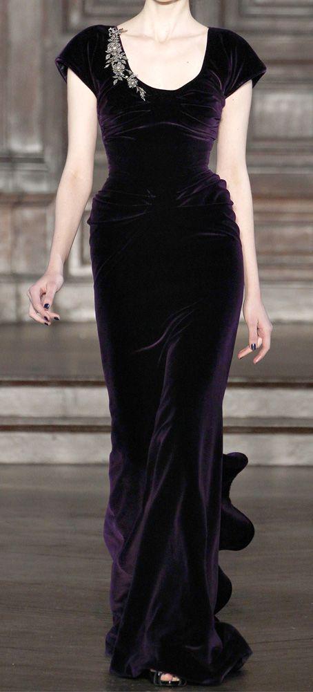 Deepest purple velvet. L'Wren Scott   Fall 2012 -13 So so saddened by her suicide.