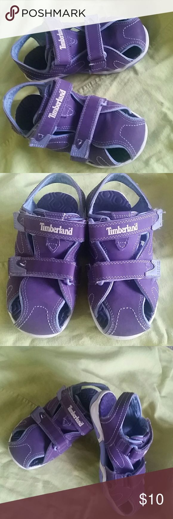 TIMBERLAND GIRLS PURPLE SANDALS TIMBERLAND PURPLE GIRLS SANDALS SIZE 13 Mint like new condition. FREE GIFT INCLUDED TIMBERLAND Shoes Sandals & Flip Flops