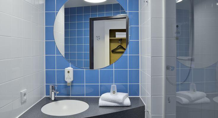 Badezimmer im B&B Hotel Köln-Messe