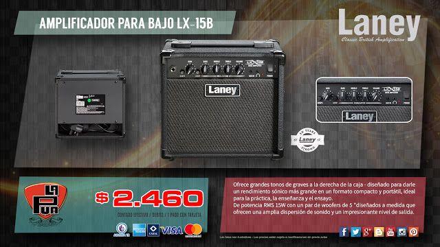 """La Púa San Miguel: AMPLIFICADOR PARA BAJO """"LANEY"""" LX-15B"""