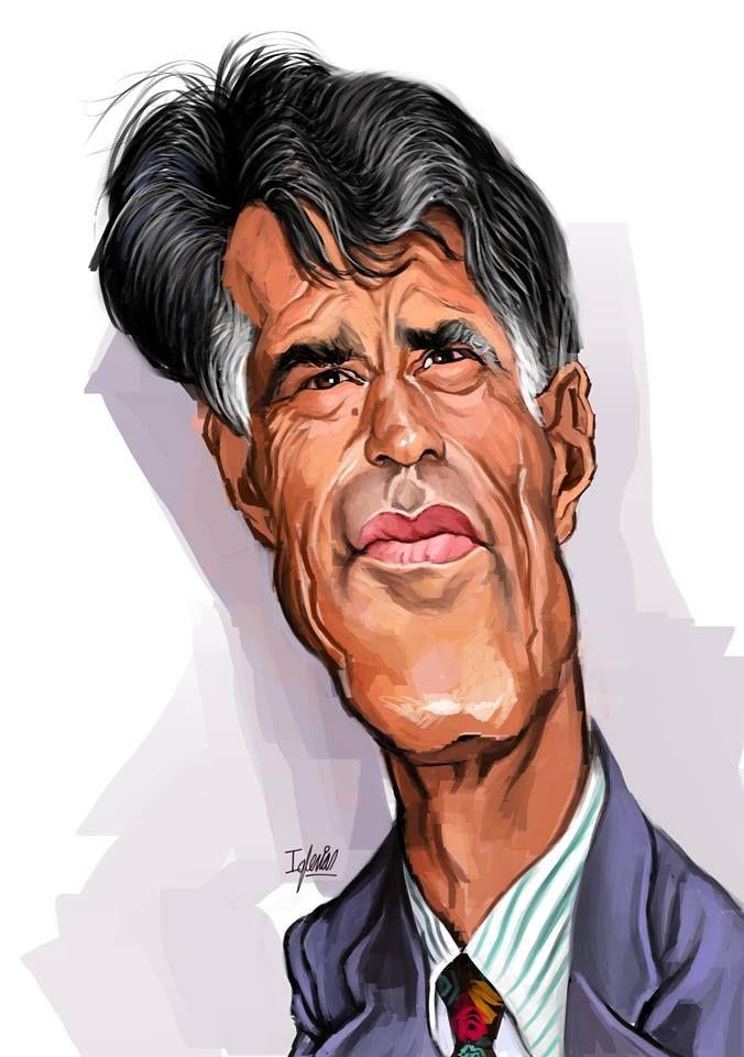 Excelente caricatura del mítico presentador español de televisión Jesús Hermida, realizada por el a...