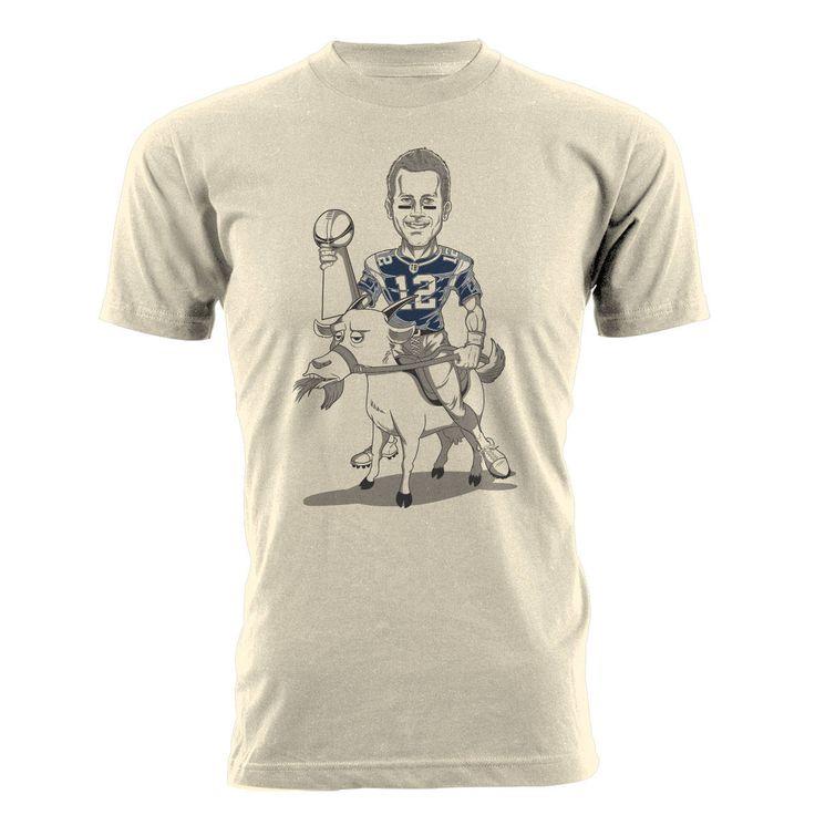 Brady and THE G.O.A.T. Shirt- Unisex/Men's Tom Brady Goat T-shirt by BeardedDogPrintsLLC on Etsy