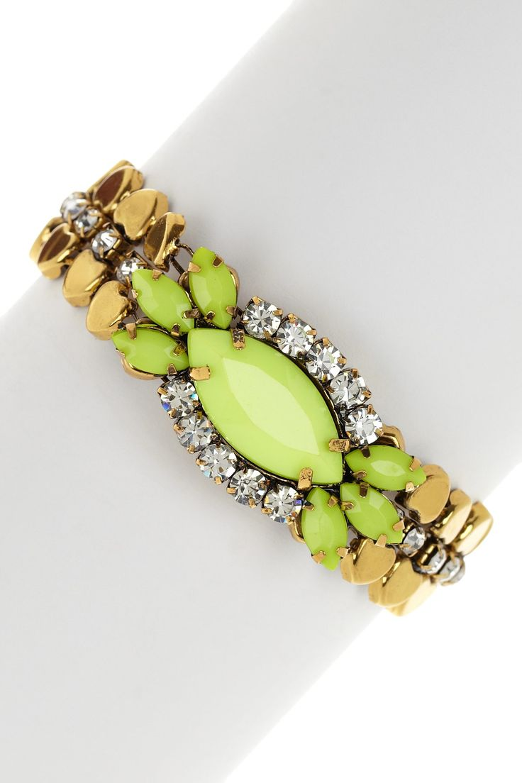 Neon Yellow Pendant Bracelet on HauteLook