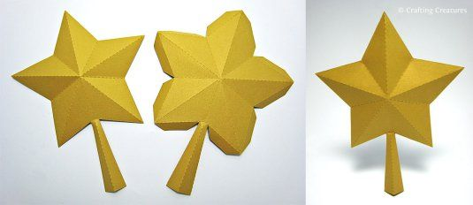3D Paper Star for Xmas Tree Topper (FREE SVG, DXF, PDF) « Crafting Creatures