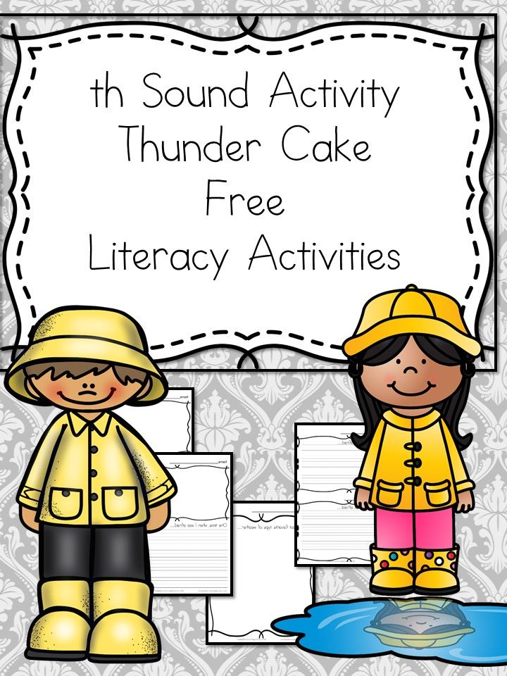 Thunder Cake Activities and Worksheets to go along with the book Thunder Cake.  Help teach the Th digraph sound, or teach about weather using Thunder Cake.   via @sightsoundread