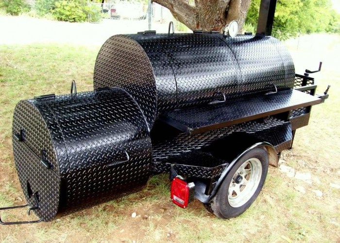 BBQ Trailers For Sale | bbq smoker trailer mounted - $2900 (whitney) for Sale in Waco, Texas ...
