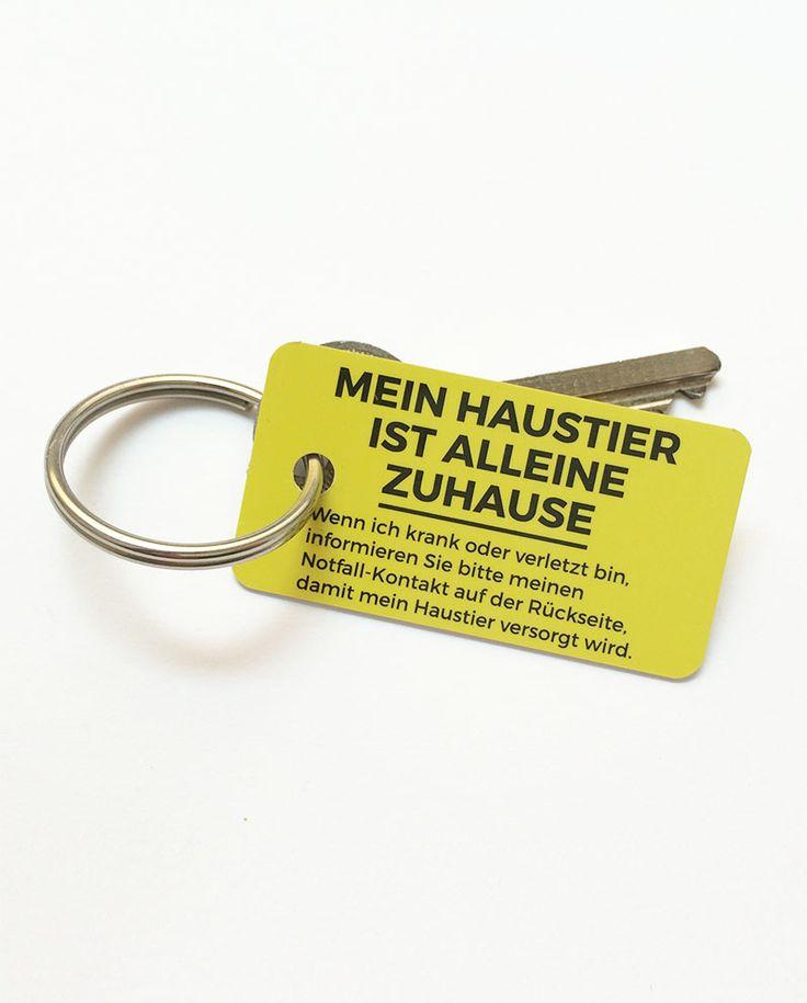 Produkt Bild 2 der Vorderseite des Haustier Notfall Schlüsselanhängers