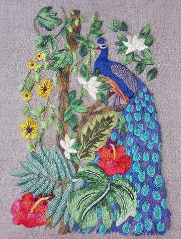 Blue peacock kit   The French Needle   French Needlework Kits, Cross Stitch, Embroidery, Sophie Digard