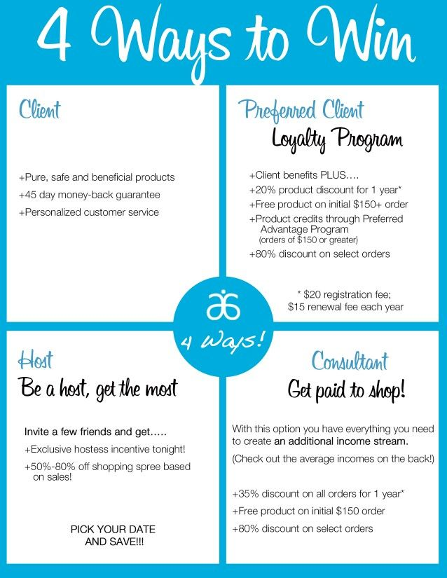 4 ways to join Arbonne. What's your best option? Become a referring consultant and get a monthly income for recommending to products to others. It's really that easy!