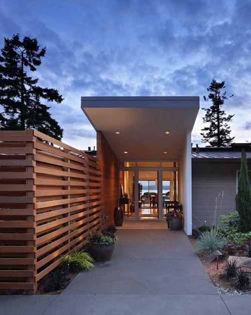 Modern tall privacy fence.