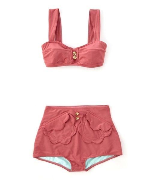 Retro swimwear-pocket detail