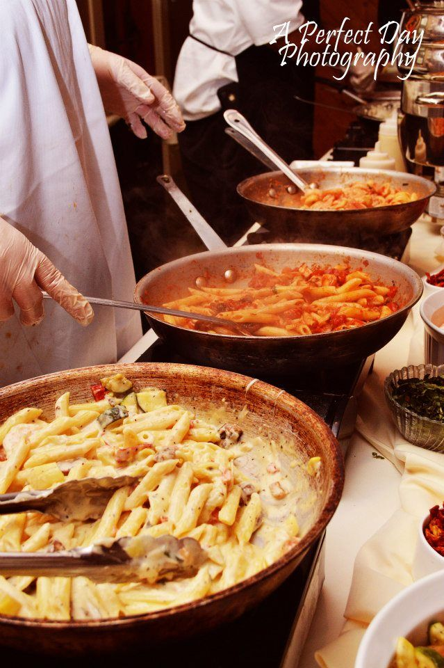 A Pasta Station Makes Any Event Just That Much Better Www Theclubsatstjames Wedding Food Stationswedding Reception