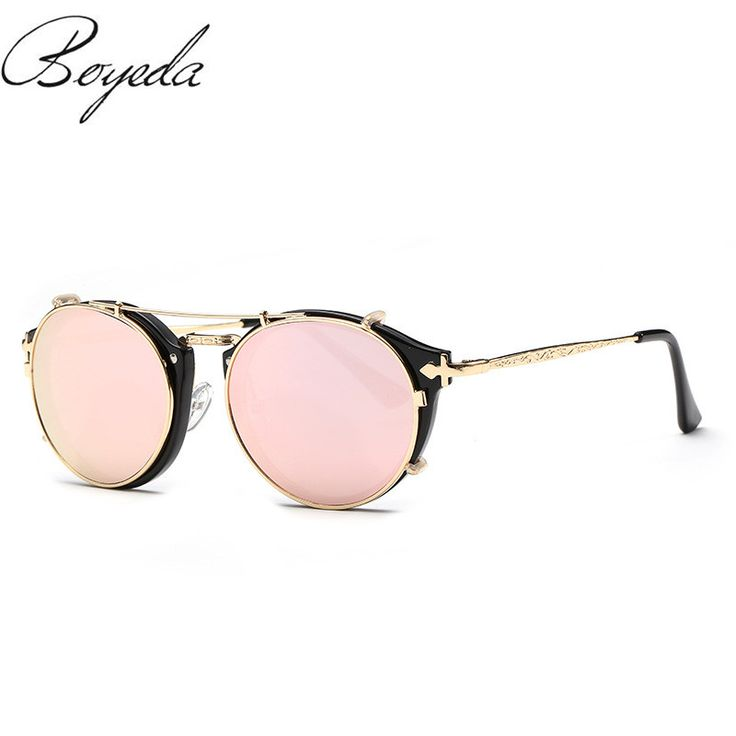 Fashion Retro Double Flip Punk Sunglasses For Unisex Clip On Sunglass Vintage Brand Sun Glasses Man Woman oculos de sol