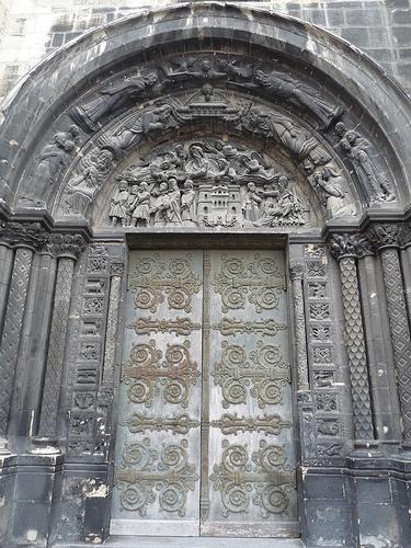 north portal on west front of Basilica of St Denis, Paris