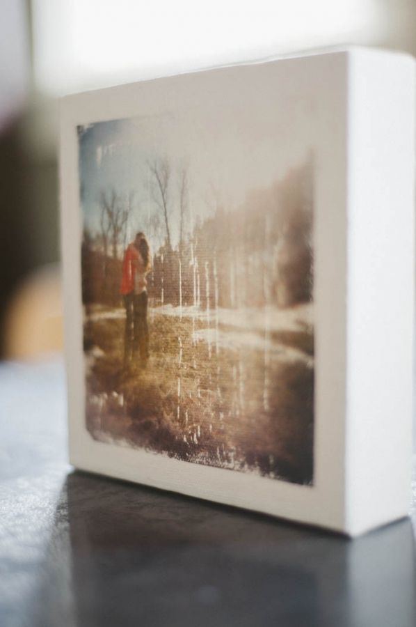 Place your own photo on canvas! This method gives it a really nice customized feel.