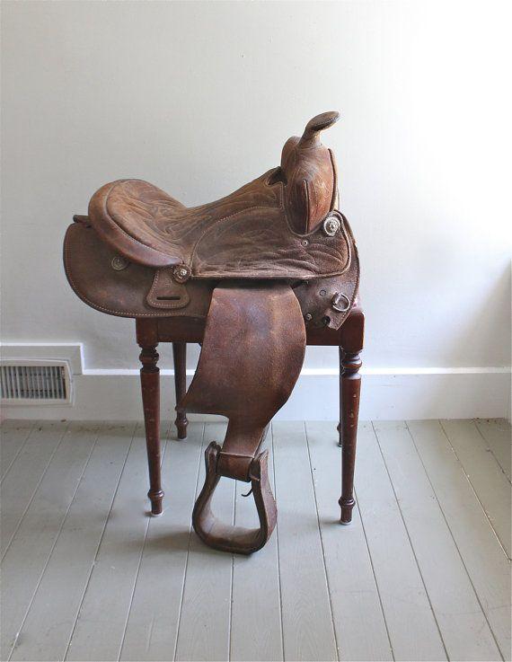 Vintage Western Saddle 53