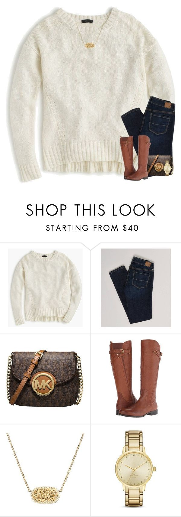 """""""Just got Surgery! (read d)"""" by your-daily-prep ❤ liked on Polyvore featuring J.Crew, American Eagle Outfitters, MICHAEL Michael Kors, Naturalizer, Kendra Scott and Kate Spade"""