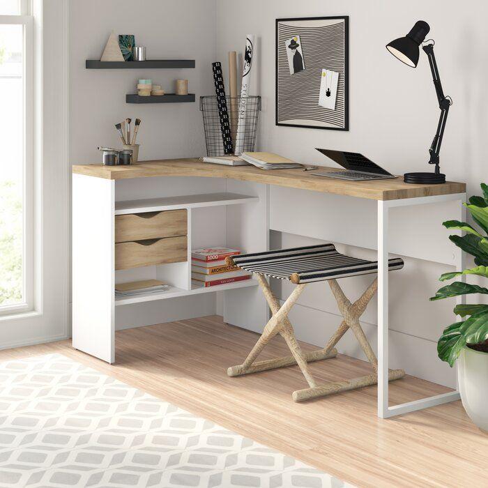 Zipcode Design Chang L Shape Desk In 2020 L Shaped Desk Desk Essentials Home Office Furniture