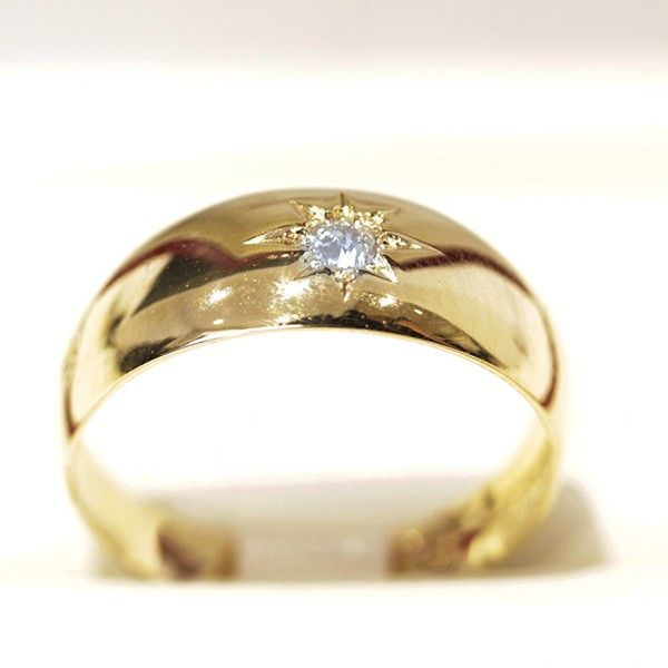 Antique Diamond and yellow gold wedding band