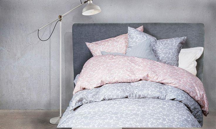 Sanna sengesett i rosa og blått