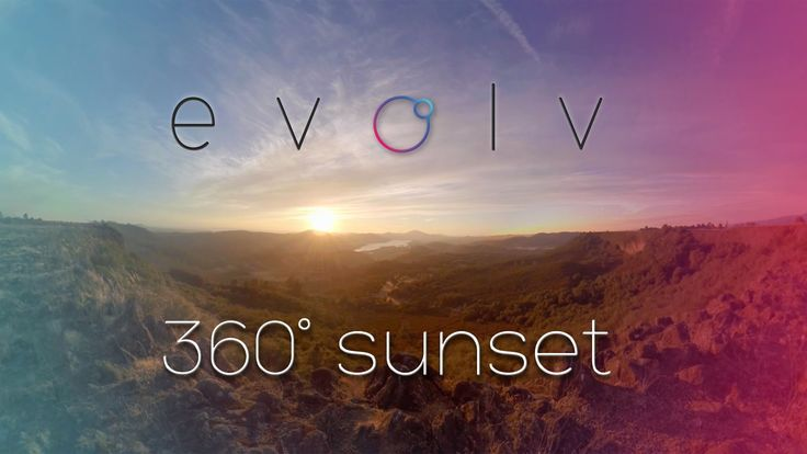 360°Sunset Timelapse ft evolv | 360 Video | Virtual Reality Relaxation ...