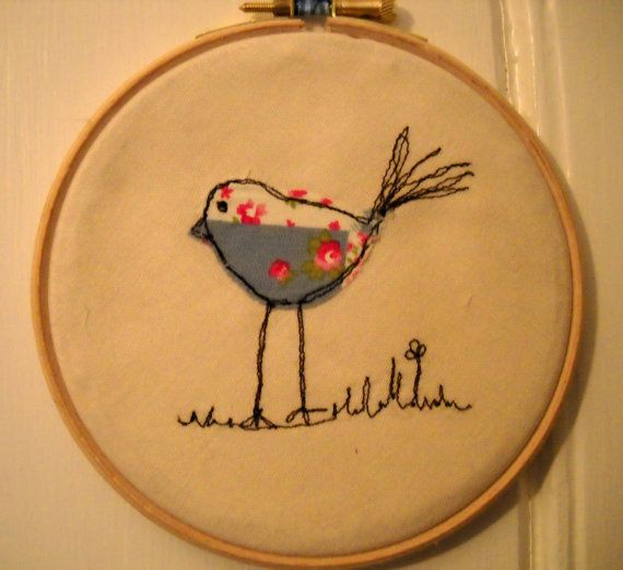 Embroidery Hoop Art by TangledFox on Etsy, £8.00