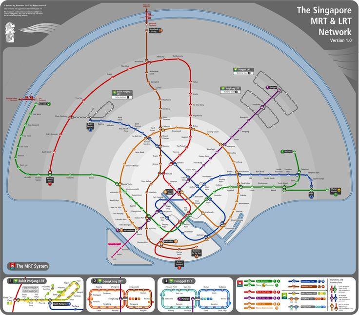 Unofficial Future Map: Singapore MRT/LRT by Bernie Ng, 2013