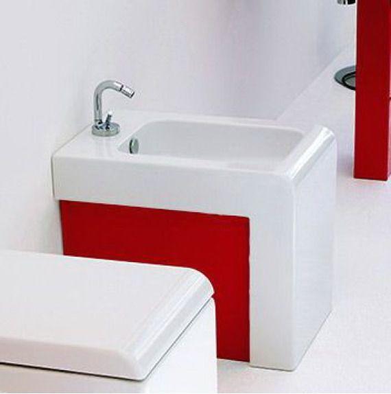 Art Ceram La Fontana bidet stojący biało czerwony LFB00401;51