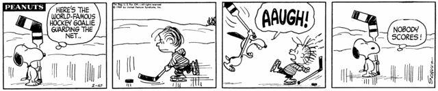 #Peanuts #Snoopy #Goalie #Hockey <3