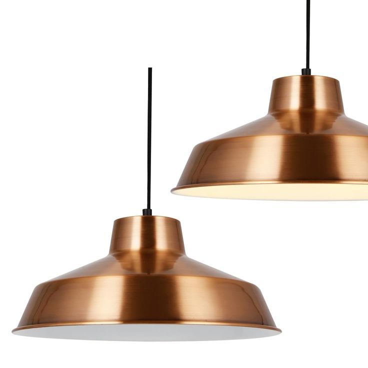 Diese Moderne Pendelleuchte Ist Ein Dekorativer Und Zeitloser Hingucker Mit Einem Kupferfarbenem Metall Schirm Die Leuchte Ideal Im Essbereich